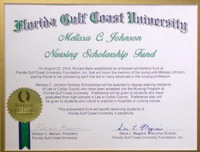 MCJ nursing scholarship